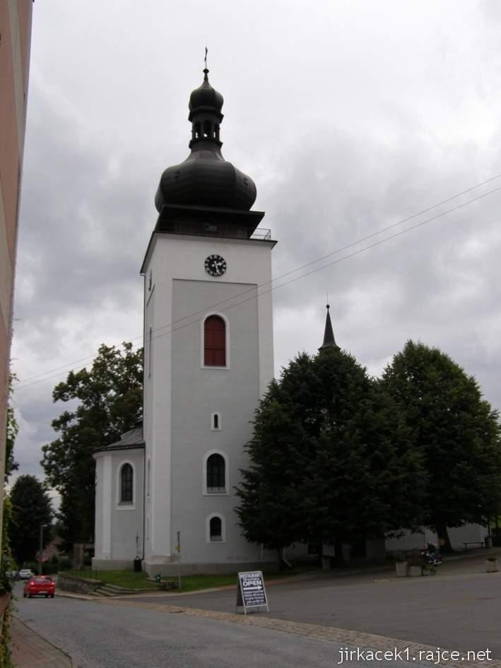 Bozkov -  kostel Navštívení Panny Marie -  věž
