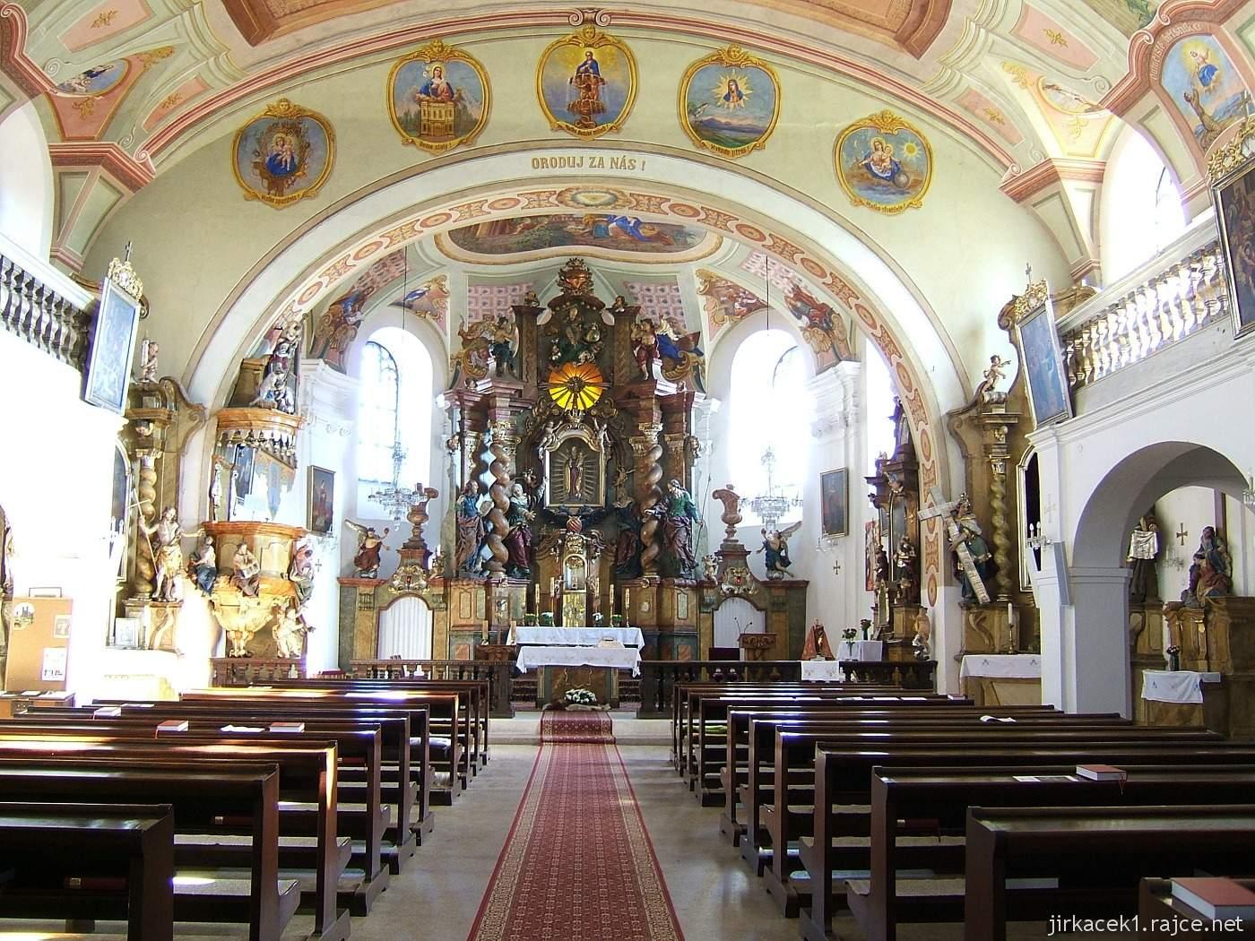 Bozkov - kostel Navštívení Panny Marie - interiér