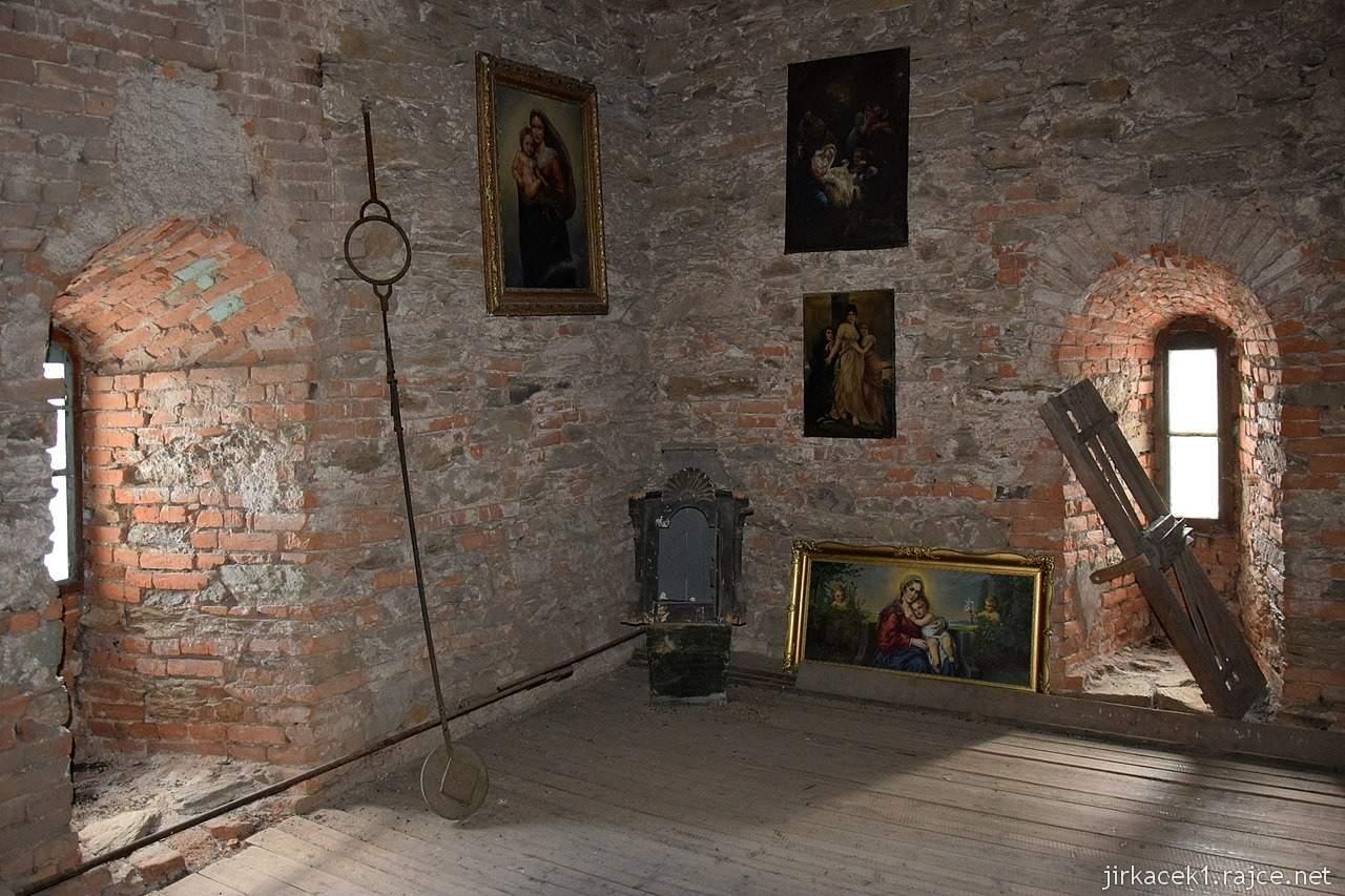 Bozkov -  kostel Navštívení Panny Marie - interiér věže