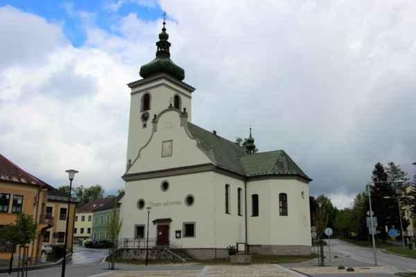 Volary - pohledy na kostel svaté Kateřiny