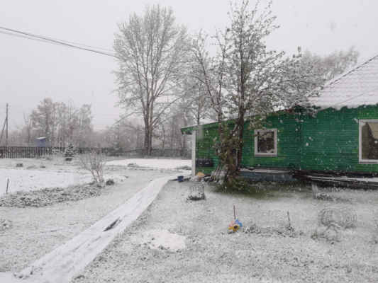 Esso - sněhová přeháňka v červnu