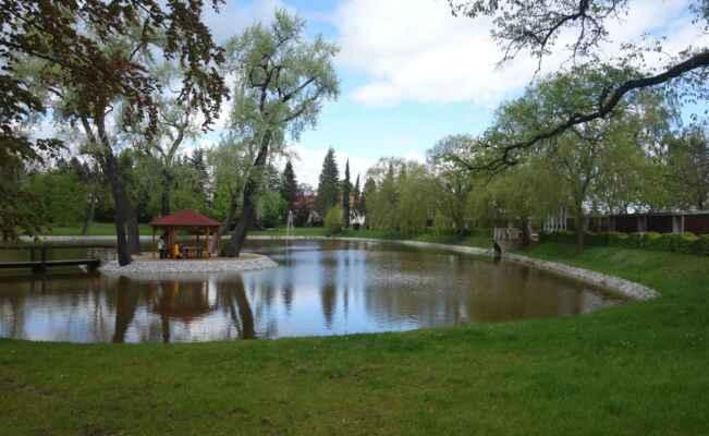 A samozřejmě nesmí chybět rybník. A to přímo Zámecký rybník.