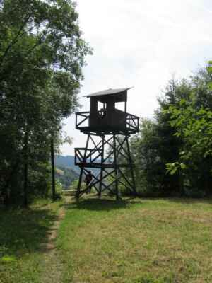 Jáchymovské peklo - strážní věž - Replika strážních věží vězeňských lágrů v okolí Jáchymova