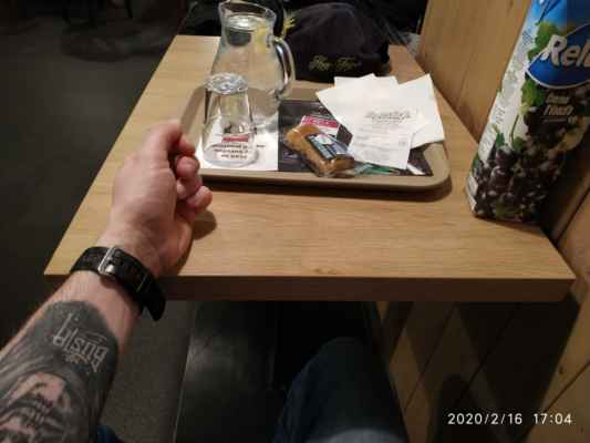Lasardopictures 2020 - V CROSS cafe v Plzni na náměstí Republiky u hotel Central v Riegrové ulici.Jinak je tam novinka od 3.2.2020 že na WC je kód. Můj na 16.2.2020 byl #2465#. Ale možná je stejná u každého,je to na tom bločků. Čau ;-) * Dne: 16.2.2020 Plzeň/neděle. * Fotograf: D'J.Tamáš LasardoPictures. Fotoaparát: Xiaomi Redmi Note 8 lite. All Rights Reserved Photo  LasardoPictures. * IMG_20200216_170449.jpg   fotoaparát: Xiaomi, MI 8 Lite   datum: 16.02.2020 17:04:49   čas: 1/20 s   clona: f/1.9   ohnisko: 3.9 mm   ISO: 320 »~*~« Plzeň v kostce (10.2.-16.2.2020) - https://youtu.be/PA4dQTS0U68 JT81 R.I.P hudba - www.youtube.com/playlist?list=PLALJeiPjfjpZFiG27SmrhQfsdprHyB4Dc      www.sisiangelswhitegabriela.estranky.cz www.lasardopictures.webnode.cz www.forest1981.estranky.cz http://m.onlineradiok.com/petofi »*« #LasardoPictureS #tj81fotograf #mrbustatattoo #JT81fotograf #JT81fotografie #čaj #dzbanvody #CROSScafe #plzen #tetovált »*«  Wifi Dne:16.2.2020,od hotelu Central v Riegrové ul.,v Plzni.