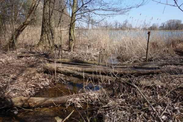 A je tu první z kaskády rybníků. Tenhle se jmenuje Bašta.