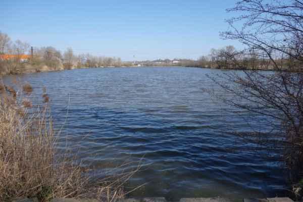 A je tu další z řady rybníků - rybník Strnad.