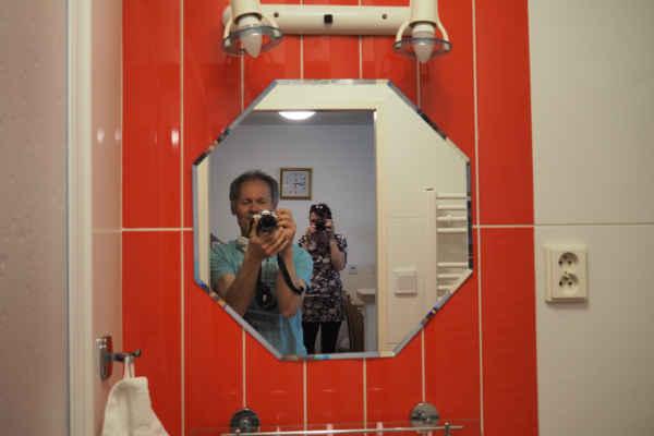 Hezká koupelna - a všechno je nové, po rekonstrukci vinného sklepa...