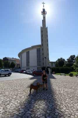 Hustopeče - Velice zajímavý kostel postavený na místě starého.