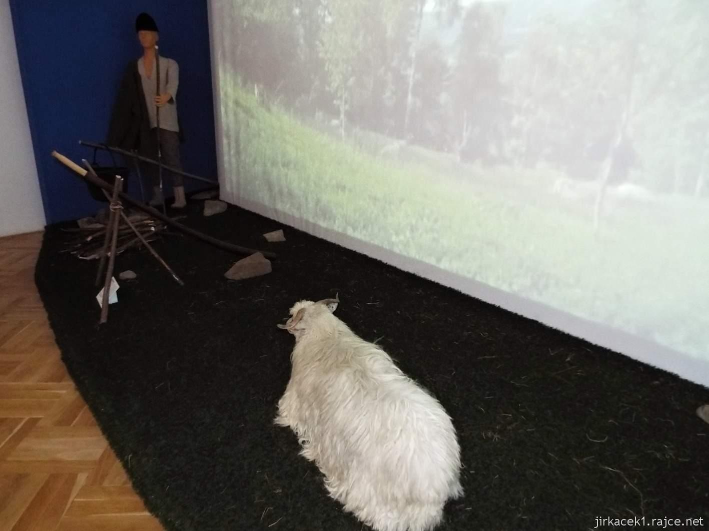 Vsetín - zámek 19 - muzeum - etnografická expozice Pásli ovce Valaši