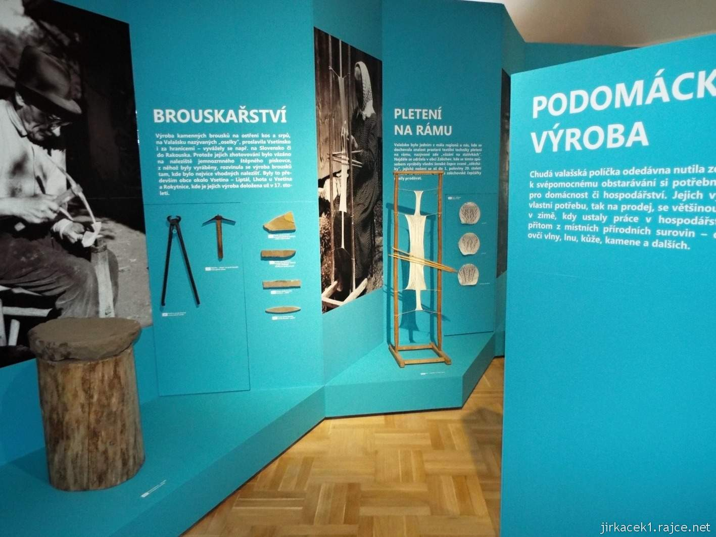 Vsetín - zámek 26 - muzeum - etnografická expozice Podomácká výroba