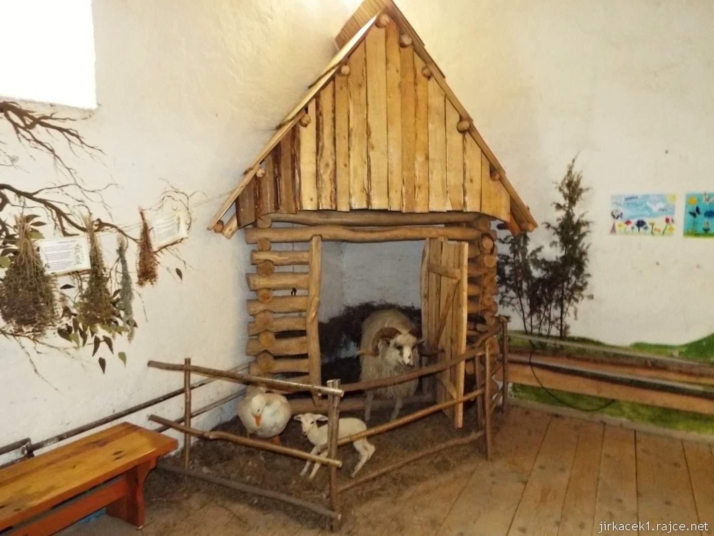 Vsetín - zámek 45 - věž - expozice přírody